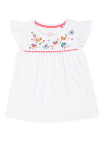 White Embroidered Top (9 months - 6 years)