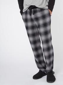 Grey Checked Pyjama Bottoms