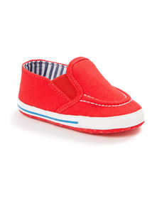 Red Slip On Trainers (0 - 24 months)
