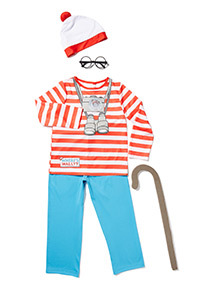 Red Where's Wally Costume (3-12 years)