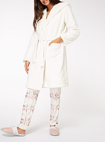 Chevron Honeycomb Dressing Gown
