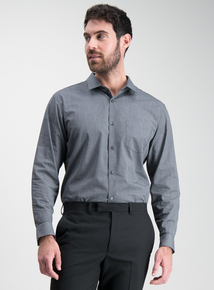 3b6a669d2bdf50 Online Exclusive Black Slim Fit Easy Iron Shirts 2 Pack