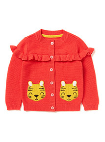 Red Asia Pacific Story Cardigan (9 months-6 years)