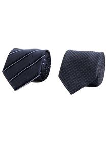 Navy Blue Striped Tie 2 Pack