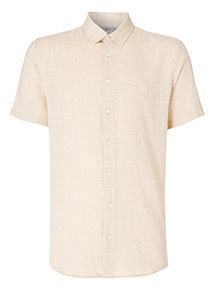 Ochre Textured Shirt