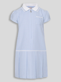 Blue Sporty Gingham Dress (3-12 years)