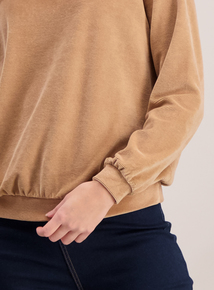 Brown Baby Corduroy Long Sleeve Sweatshirt