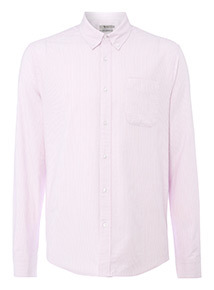 Pink Striped Regular Fit Shirt