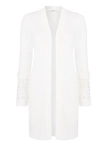 Lace Sleeve Longline Cardigan