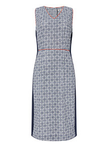 Navy Mosaic Illusion Dress