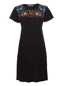 Black Embroidered Dress.