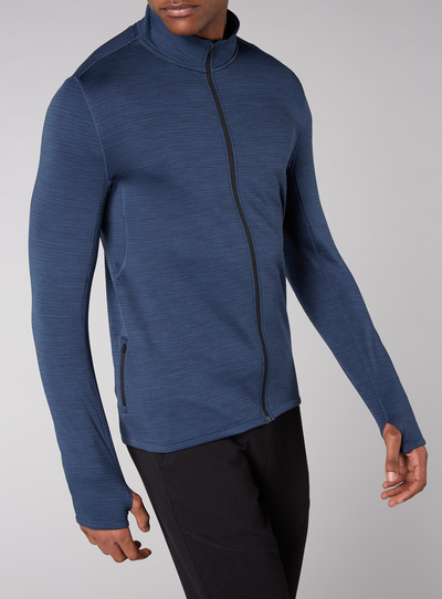 Admiral Indigo Lightweight Zip Through Sweatshirt