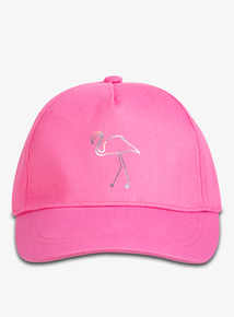 88b9466137b1c Hot Pink Flamingo Print Cap