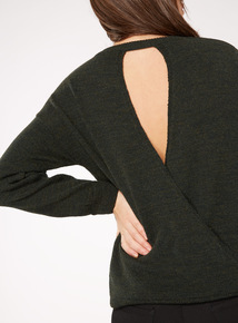 Green Wrap Back Jumper