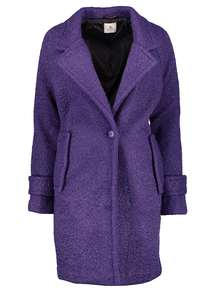 Purple Longline Overcoat