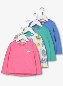 Multicoloured Rainbow Long Sleeve Tops (9 months-6 years)