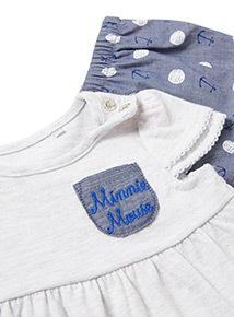 Grey Minnie Mouse Dress and Knicker Set (Newborn-18 months)