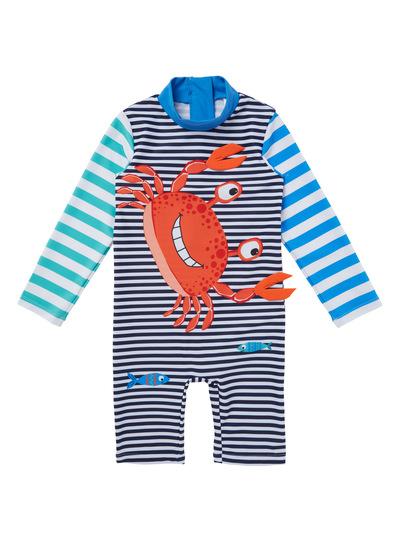 Multicoloured Striped Crab Swimsuit