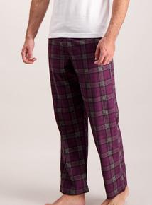 Purple Checked Pyjama Bottoms