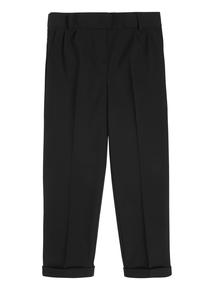 Girls Black Tapered Trousers (3-12 Years)