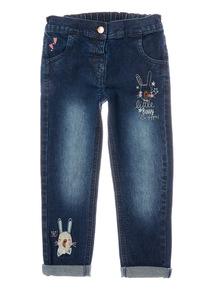Blue Pom Pom Bunny Jeans (9 months-6 years)