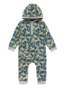 Camouflage Jersey Hooded Romper (0-24 months)
