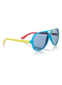 Multicoloured Colour Block Sunglasses