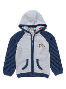 Grey Hooded Knitted Cardigan (0-24 months)