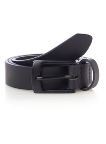 Black Leather Belt (3-12 years)