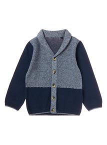 Blue Shawl Collar Cardi (0-24 months)