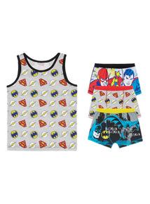 Boys Multicoloured DC Comics Vest and Trunks Gift Set