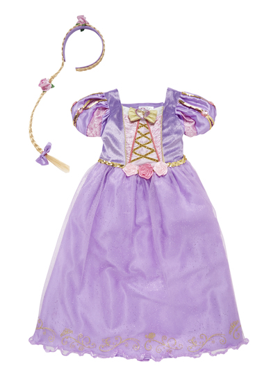 Fancy Dress Kids Disney Rapunzel Dress Up Costume (3-10 years) | Tu ...