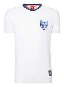 Official England White Football T-Shirt