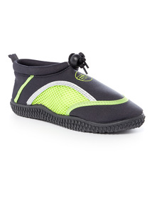 Charcoal and Lime Wet Shoes