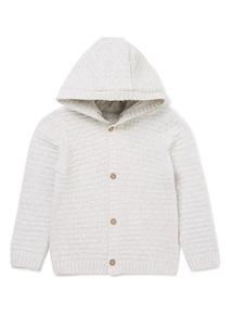 Grey Hooded Cardigan (0-24 months)
