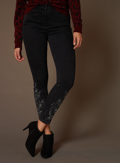 Premium Lurex Embroidered Jeans