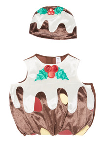 Brown Christmas Pudding Costume (3 months-4 years)