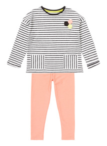 Striped Jersey Top and Trousers Set (9 months-6 years)