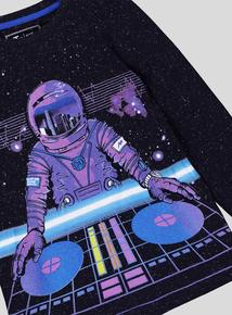 Black Spaceman DJ Long-Sleeved T-Shirt (3-14 Years)