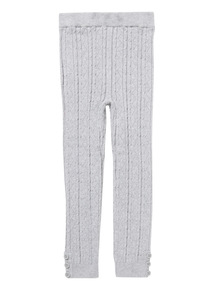 Grey Cable Knit Legging (9 months-6 years)