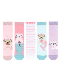 Pugs and Purmaids Socks 5 Pack