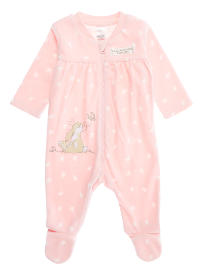 1bb0af8ee33d Baby Girls Pink Guess How Much I Love You All In One (0-24 months ...