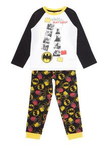 Kids Black Lego Batman  Pyjama Set (4-12 years)