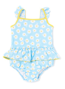 Blue Daisy Swimsuit (0-24 months)