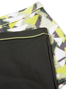 2 Pack Multicoloured Geometric Print Swim Shorts (1-12 years)
