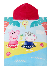 Kids Multicoloured Peppa Pig Poncho