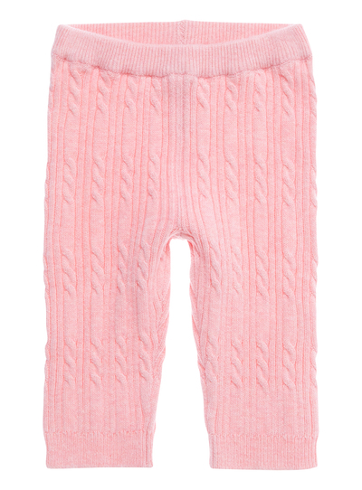 fb08e0eaf9dca Baby Girls Pink Cable Knit Leggings (0-24 months) | Tu clothing