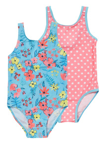 Girls Multicoloured Floral and Spot Costumes 2 Pack (9 months - 12 years)