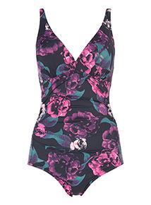 Secret Shaping Rainforest Flower Print Swimsuit