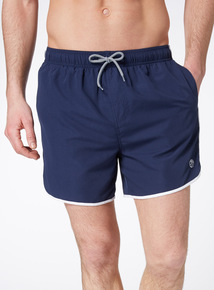 Navy Plain Runner Shorts